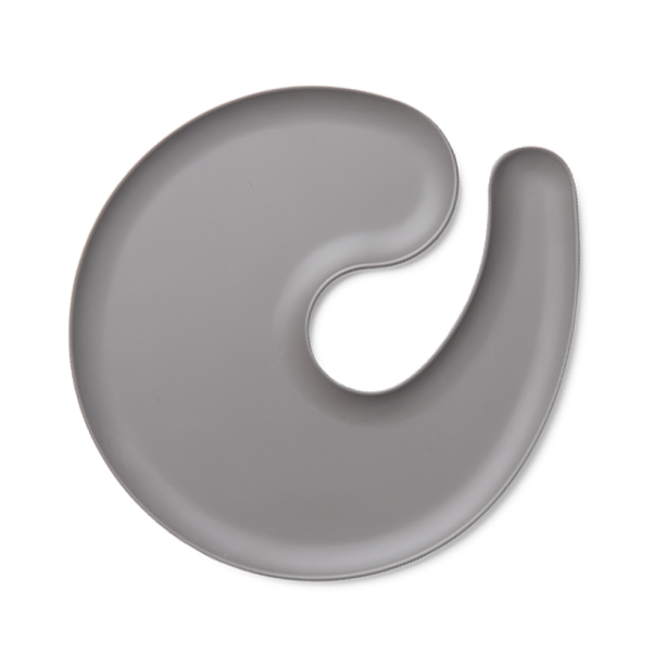 1handPlate big matt grey plate with a hole for a wine glass